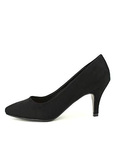 Cendriyon, Escarpin Noir Simili Peau QUENN Vivi Chaussures Femme