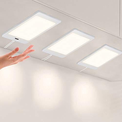 Pack de 3 lámparas de panel de LED con sensor de Mano ENUOTEK