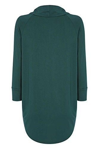 Roman Originals Damen Rundhals Ausschnitt Jersey Top grün Grün