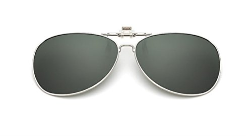 UK1stChoice-Zone Unisex Sonnenbrillen Polarisierte Flip-up Klipp auf Sonnenbrille Gläsern Brille Sun-ClipON0001 (Grün)
