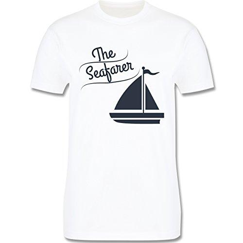 Schiffe - The Seafarer Segelboot - Herren Premium T-Shirt Weiß