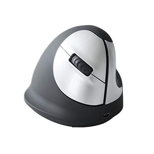 HE Ergo Vertical Mouse kabellos rechts   Funkmaus   vertikale Ausführung   ergonomisches Design - Vorbeugung gegen Mausarm/Tennisarm (RSI Syndrom) - besonders armschonend   5 Tasten