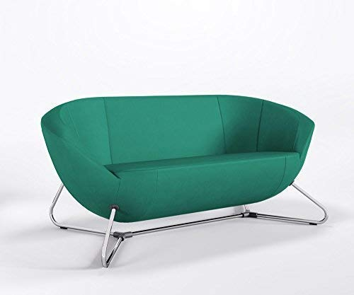 Relaxsofa ONLY Loungesofa Cocktailsofa Bürocouch Hotelsofa Kunstleder VALENCIA, Farbe:V5057 - Türkis