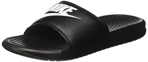 Nike Unisex-Erwachsene Benassi Just Do It Dusch-& Badeschuhe, Schwarz (Black/White), 47.5 EU