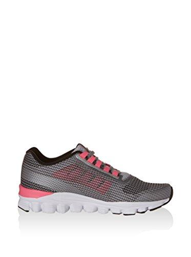Reebok  Hexaffect Storm, Chaussures de sport d'extérieur pour femme 37 Gris / Rose / Blanc / Noir (Steel / Flat Grey / Solar Pink / White / Black)