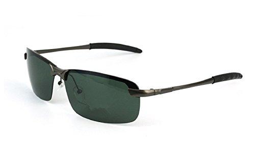 Preisvergleich Produktbild Herren Polarisiert Sonnenbrille Fahrerbrille Federscharnier AL-MG Metallrahmen Outdoor Sportbrille Schwarz Linse
