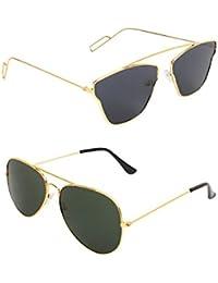AMOUR Unisex Combo Offer Pack Of UV Protected Cateye & Aviator Stylish Sunglasses For Men Women, Boys & Girls...