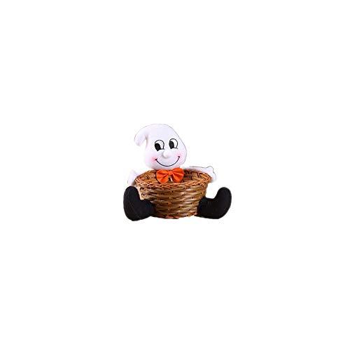 Sungpunet Halloween-Speicher-Korb-Karikatur-Süßigkeit Dekorative Container Plüsch-Puppe Hand gesponnene Kinder Basket Home Decor Geist Type -