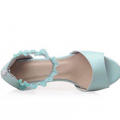 LvYuan Da donna Sandali Finta pelle PU (Poliuretano) Estate Autunno Footing Fibbia Quadrato Beige Blu Rosa 2,5 - 4,5 cm blushing pink