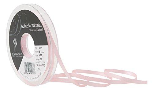 Berisfords 3501Satinband 5mm pink Azalea 40010x 1x 10cm Double Face Poly Satinband, pink Azalea - 5 X Azalea