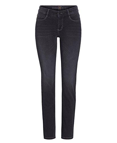 MAC Damen Slim Jeans Dream Schwarz (Soft Black Used D925)