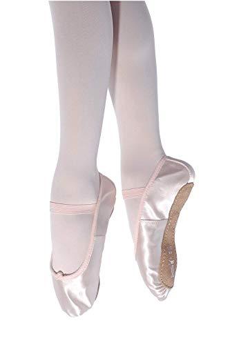 Roch Valley Ballettschläppchen aus Satin mit durchgehender Sohle 29 Blassrosa