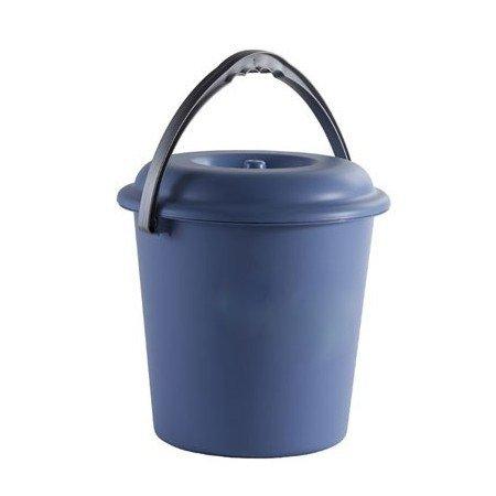 PLASTICOS HELGUEFER - Cubo Basura 16 litros con Tapa, Color Azul
