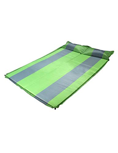ett Feuchtigkeitsfeste Faltbare 190 * 135 * 2cm doppelte automatische aufblasbare Matratze Zelt im Freien Feuchtigkeitsfeste Auflage-kampierende Matte - Qualität kann genäht we ()