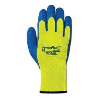Ansell Size 9 Hi-Viz Yellow And Blue Powerflex T Hi Viz Yellow Rubber Thermal