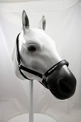 Horsefashion Shop Lederhalfter Silver Glitter (mit Führstrick, VB)