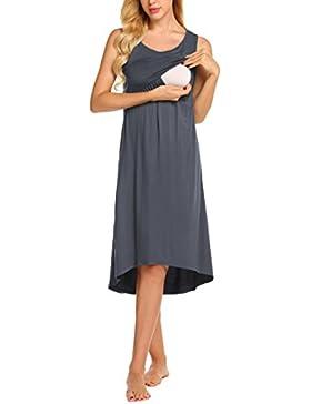 61ead227a53e Unibelle Donna Abito da Maternità Camicia da Notte Maternità Abito di  Gravidanza Scollo a U a