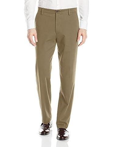 Dockers Easy Khaki D3 Classic-Fit Flat-Front Pant, Timberwolf, 36 29