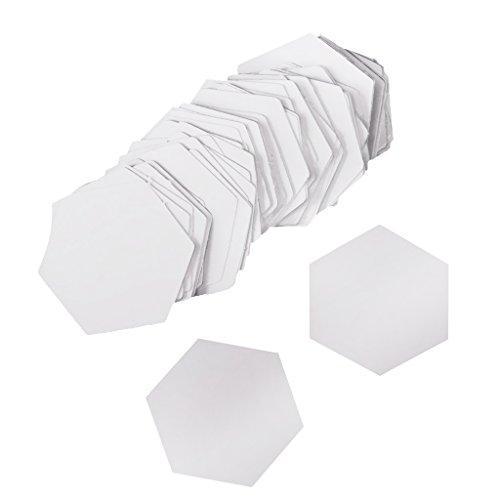 lt Schablonen Acryl DIY Werkzeuge für Patchwork Patchwork Quilt-Vorlage Lineal Nähwerkzeugen - Weiß, 26mm ()
