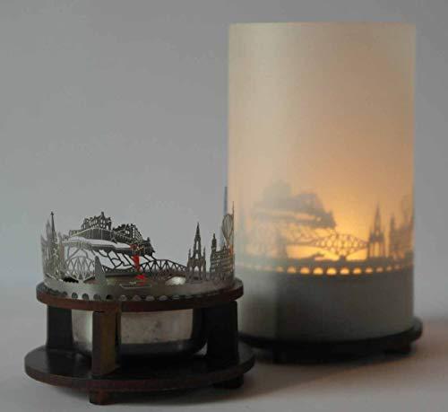 13gramm Edinburgh-Skyline Windlicht Schattenspiel Premium Geschenk-Box Souvenir, inkl. Kerzenhalter, Kerze, Projektionsschirm und Teelicht
