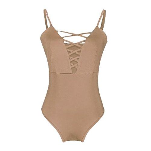 e0a0df5fdca96 Women Swimwear, Sunday77 Sexy One Piece Plus Size Bikinis Set Swimwear Women  Solid Color Push Up Padded Monokini Swimsuit Bandage Push Up Beach Bikini  ...