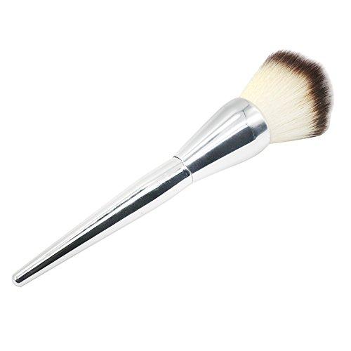Gespout Pinceau de Maquillage Professionnel pour Yeux Argent Nylon Poignée en Plastique Fond de Teint Poudre Blush