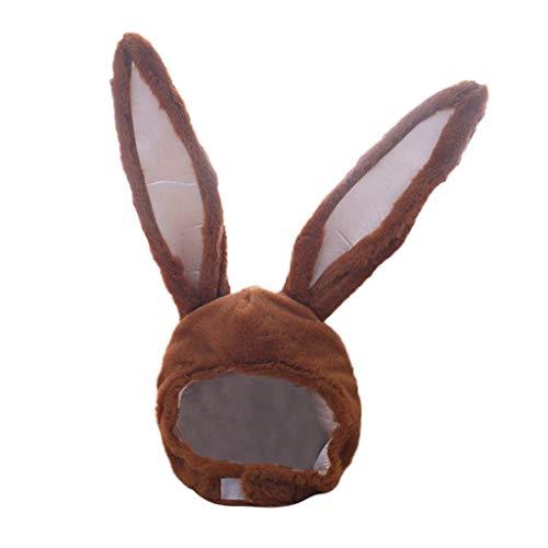 VRTUR Mädchen Lustige Tier Niedlichen Kaninchen Ohr Hut Kappe Kopfbedeckung Plüsch Geschenk Kleid Party Karneval Valentinstag Geschenk