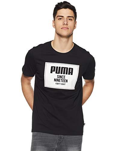 PUMA Herren Rebel Block Basic Tee T-Shirt, Cotton Black, XXL