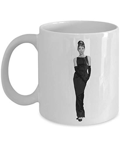 1 Kaffeebecher 11 Unzen Keramik Weiß Kaffeebecher Audrey Hepburn Audrey Hepburn Audrey Hepburn Merchandise Audrey Hepburn Audrey Hepburn Schwarzes Kleid Audrey