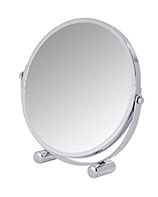 Wenko 21775100 Kosmetikspiegel Mera, Spiegelfläche Durchmesser 16cm, 500% Vergrößerung, Stahl, 19 x 19 x 4 cm, chrom von Wenko auf Spiegel Online Shop