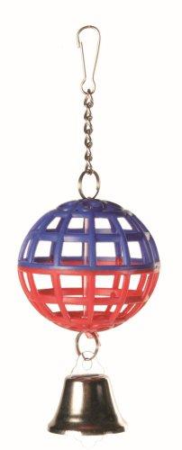 Gitter-Ball mit Kette und Glocke, Kunststoff, 7cm Durchmesser, von Trixie (Vogel Glocke)