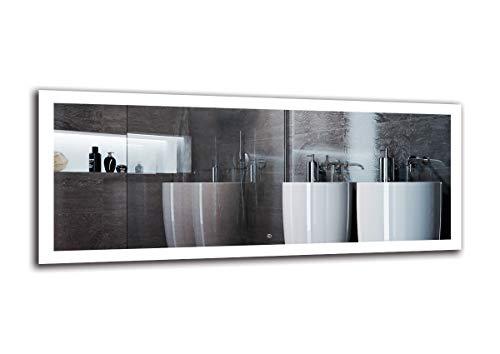 Espejo LED Deluxe - Dimensiones del Espejo 170x70 cm - Interruptor tactil - Espejo de baño con iluminación...