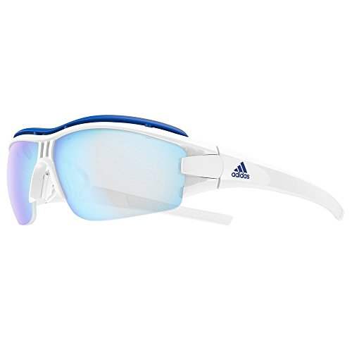 adidas Evil Eye Halfrim Pro White Shiny/Vario Blue 2019 Fahrradbrille