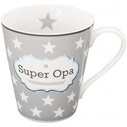 Krasilnikoff - Becher, Tasse, Henkelbecher - Super opa - Porzellan