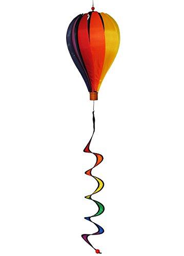 2. tlg. Set Windspiel Satorn - 1,10 m - Balloon Spirale hochwertig ! / Heißluftballon - Windspiele - Garten - wetterfest