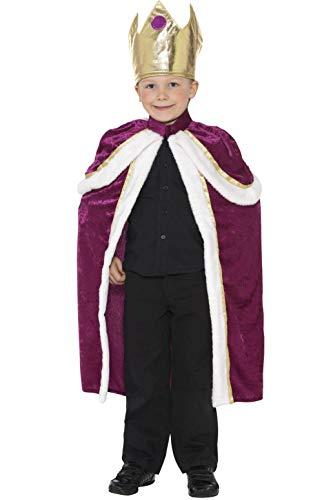 Smiffys Kinder Jungen König Kostüm, Umhang und Krone, Größe: L, 35959 (Elegantes König Kostüme)