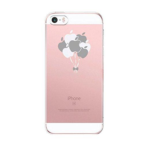 Qissy®Schutzhülle für iPhone SE /5 / 5S Hülle Case TPU Crystal Hülle Schlank Transparent Weicher Gel Silikon Handy Hülle Crystal Clear Case Sketch Design (iPhone 5/5S/SE, 4) 7