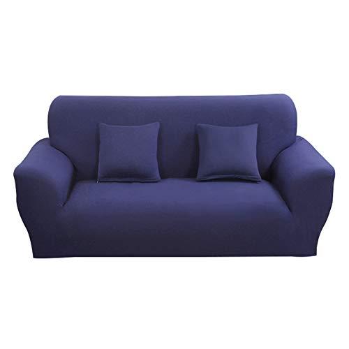 Hotniu 1-Stück Elastisch Sofaüberwurf, Sofaüberzug Polyester, Sofahusse Sofa Abdeckung Stretch, Sofabezug für Sofa, Couch, Sessel zum Schutz, mehrere Farben (4 Sitzer 225-290cm, Marine)
