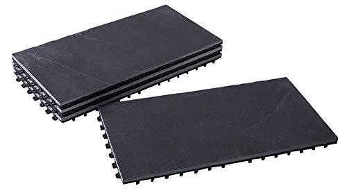 Piastrelle per pavimenti in ardesia in pietra naturale bodenmax set