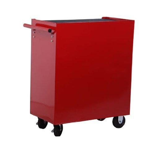 Homcom® Fahrbarer Werkstattwagen Werkzeugwagen Rollwagen Werkzeugkasten mit 5 Schubladen rot - 9