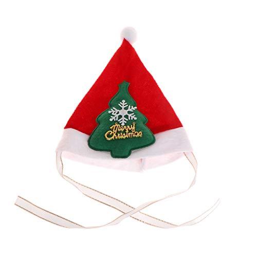 Mikiya Haustier-Weihnachtsmütze niedliches Dreieck-Hut-Welpen-Kätzchen-Kostüm Haustier-Weihnachtskleid-Hut (3#) (Fisch Stick Kostüm)