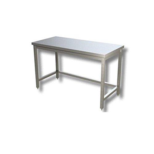 Table en acier inoxydable sans plateau de fonds et sans Présentoir dim. cm 170 x 70 x 85h