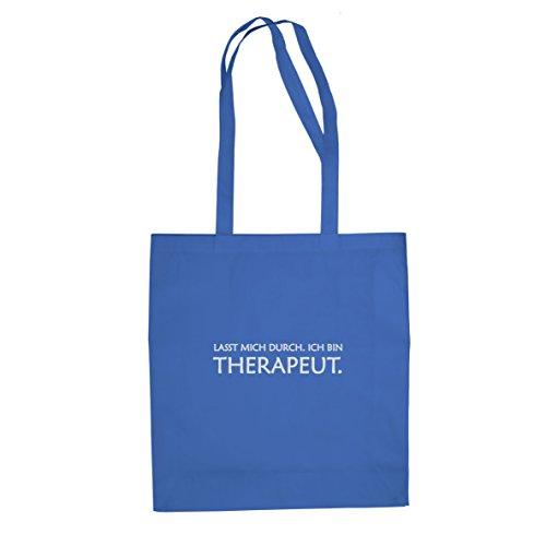 Lasst mich durch. Ich bin Therapeut - Stofftasche / Beutel, Farbe: blau (Nerd Paar Kostüm)