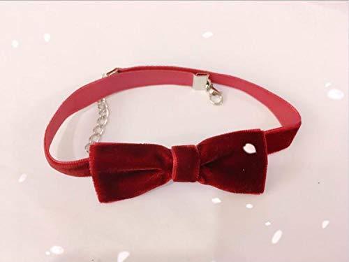 Style Bow Choker Halskette Für Frauen Silber Glocke Anhänger Halskette Cosplay Halskette Black Ribbon Shorts Choker ()