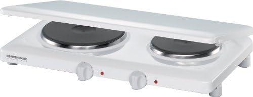 ROMMELSBACHER THL 2597/A - DOPPELKOCHTAFEL - 2500 Watt - weiß - mit Abdeckung