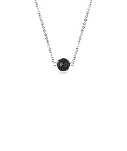 Binoster Lavastein Perle Essential Öldiffusor Halskette Lava-Kugel-Perle Aromatherapie wesentlich Anhänger Schmuck Mit 16,5