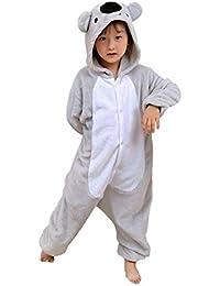 Kigurumi Unisexo Niños Animal Pijamas Carnaval Halloween Navidad Cosplay Disfraz Koala Gris