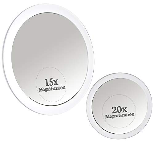 Mirrorvana Espjeo Aumento 15X y 20X con Ventosa x15 & x20 Magnification Spot Suction Mirrors