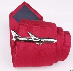 Dabixx 1 Pieza Clip de Corbata para Hombre, Clips de Corbata para Hombres Elegante Regalo de Fiesta de Oro Dorado Clips de Corbata para Bodas de Fiesta Variedad de Estilos - Aviones de Plata