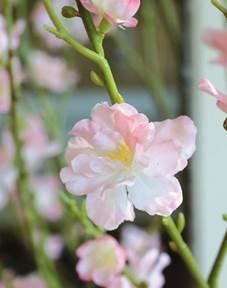 artplants Set 2 x Künstlicher Pfirsichblütenbaum, rosa Blüten, 150 cm – Künstlicher Baum/Kunstblumen